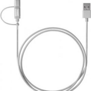 Targus Accessories ALU Series 2-in-1 (Lightning & Micro USB) Cable (1.2M) - Silver