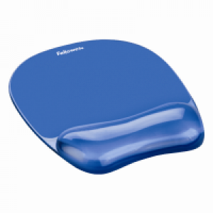 Fellowes 冰藍水晶啫喱手腕軟墊連滑鼠墊 Crystals Gel Wrist rest with mouse pad (blue)