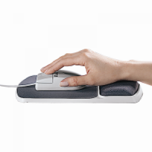 Fellowes 啫喱手腕軟墊連滑鼠墊 Gel Wrist Rest with mouse pad