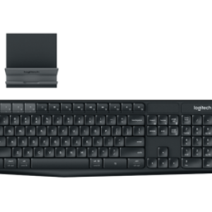 Logitech K375s Multi-Device Wireless Keyboard and Stand Combo - BLACK/CHARCOAL - CHT - 2.4GHZ/BT