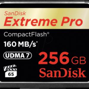 SANDISK EXTREME PRO CF 256GB 160MB UDMA 7 + VPG65