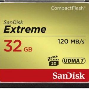 SANDISK SDCFXSB-032G-G46 EXTREME CF 32GB, 120MB/S READ, 85MB/S WRITE