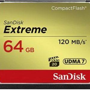 SANDISK SDCFXSB-064G-G46 EXTREME CF 64GB, 120MB/S READ, 85MB/S WRITE