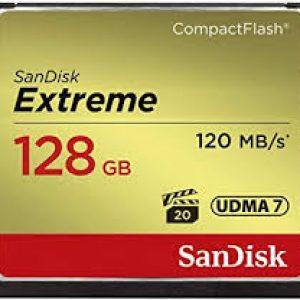 SANDISK SDCFXSB-128G-G46 EXTREME CF 128GB, 120MB/S READ, 85MB/S WRITE